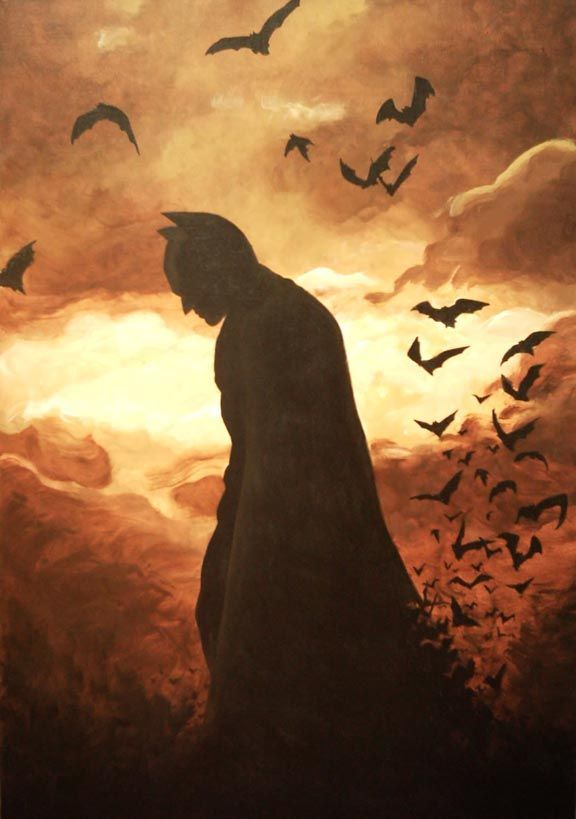 batman painting | Batman Begins painting by SatyQ