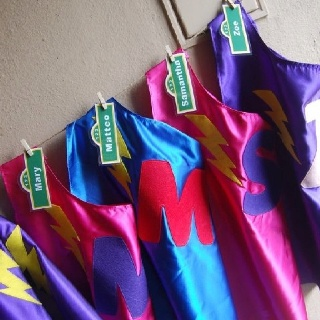 Sesame Street Party: Super Grover capes: Personalized for each child