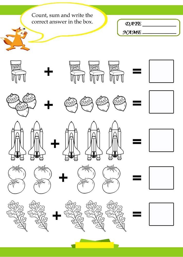 Pictures Of Math Worksheets Addition For Pre K