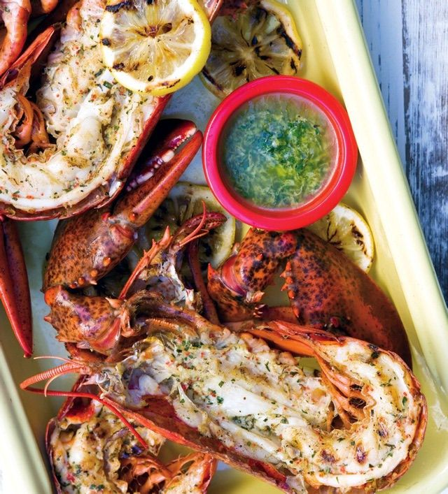 This is a simple method for preparing lobster - boiled very briefly, cut in half, then finished on a hot grill - that results in delicious seafood cooked right every time.