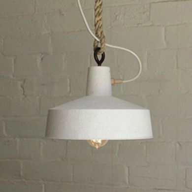 Inkster Maken - Large Pendant - Turned SA Limestone & Reclaimed Australian Hardwood with a 25 mm braided cord or a 20 mm chain or rope