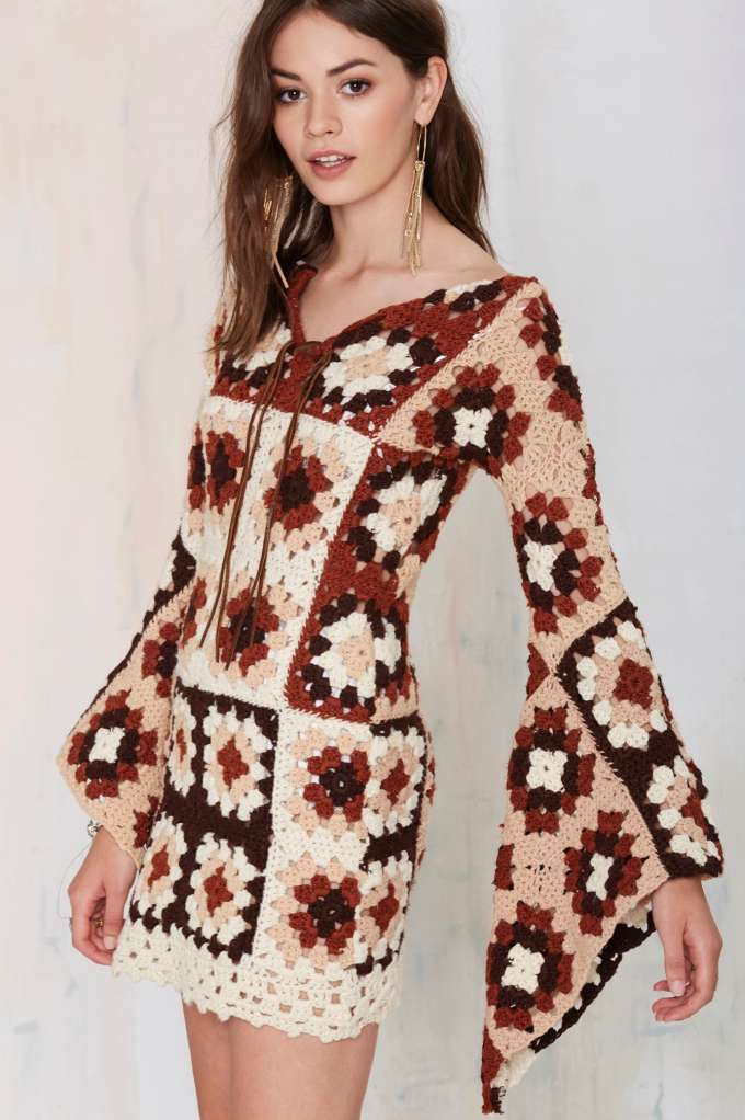 Vintage Crochet All Day Dress - Dresses