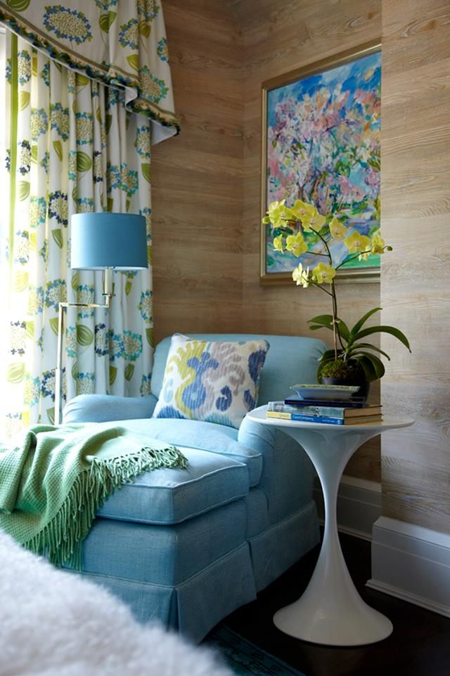 Pretty Guest Room Reading Nook Via Traditional Home