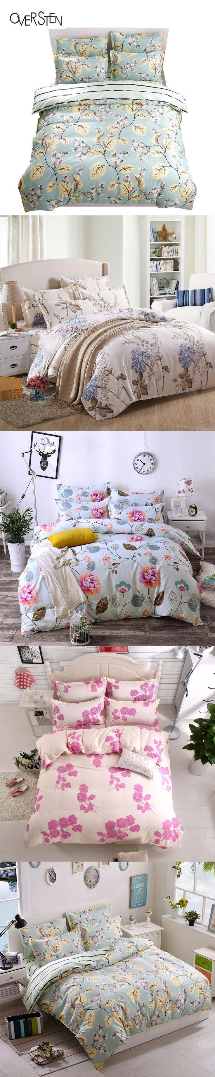 oversten korean style double single bedding set twin queen king size duvet cover 2 1 plant
