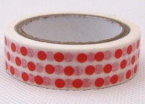 Babyshop@Home - Masking Tape Dots Rood Stationery