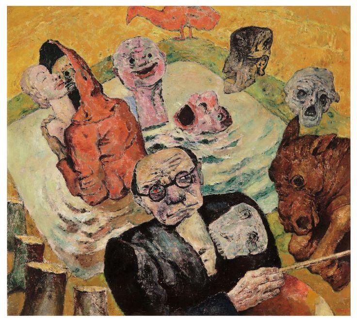 Zelfportret met doodshoofd (1938) - Frits Van den Berghe