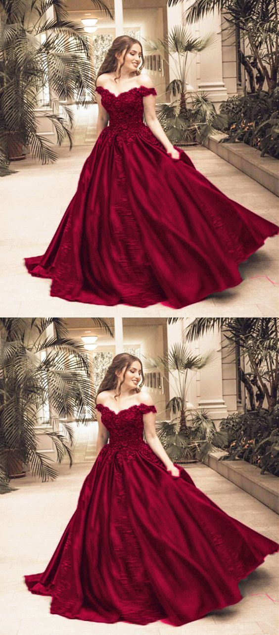 Gorgeous lace flower beaded evening dress prom dresses