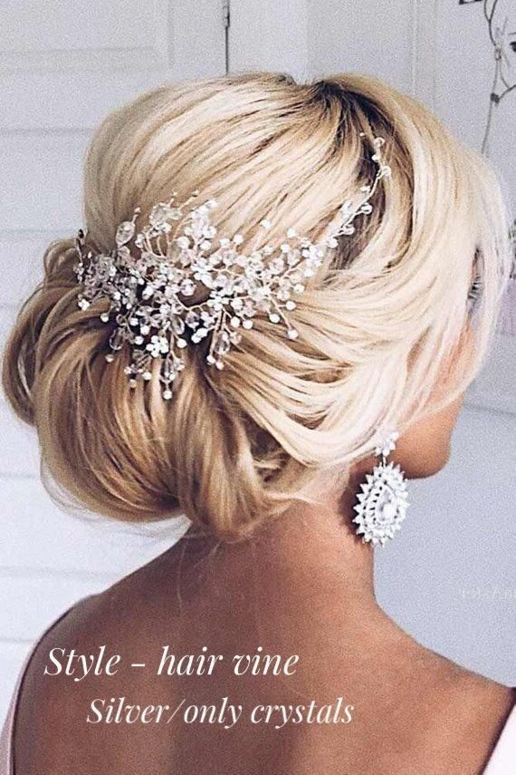 Crystal bridal hair piece Wedding hair accessories Bridal hair | Etsy  – При…