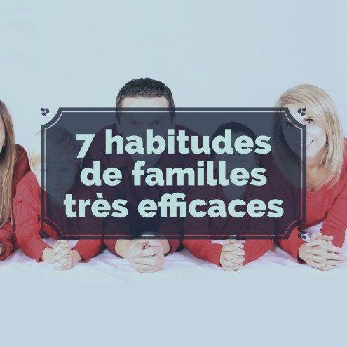 7 habitudes de familles très efficaces