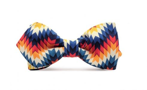 Unusual bow-tie INDIAN SUMMER  - very colourful and eye-catching. Perfect complement to your outfit! #bowtie #elegant #suit