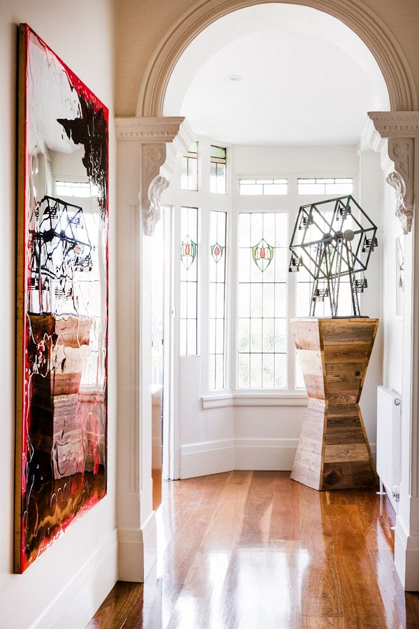 Beautiful plasterwork and stained glass. Photographed by Sean Fennessy. Via @The Design Files.net