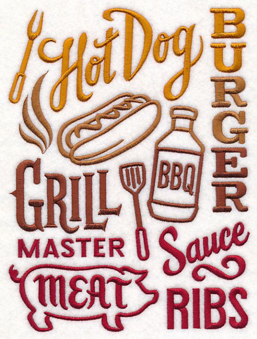 BBQ Collage design (M13651) from www.Emblibrary.com