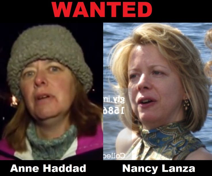 Nancy Lanza on right. She was supposedly shot in face by her son Adam Lanza. On left Nancy Haddad who has a donation page collecting money for Sandy Hook.  wake up America