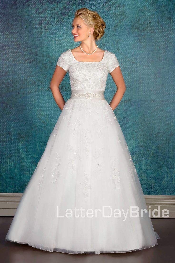 484 best LDS Weddings Dresses That Brides Can Wear in The Temple ...