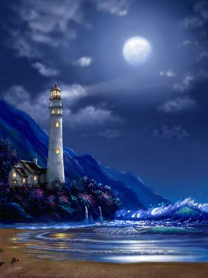 Lighthouse At Peace via MuralsYourWay.com