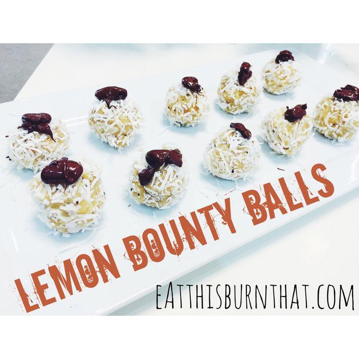 Eat This: Lemon Bounty Balls | http://eatthisburnthat.com/eat-this/lemonbountyballs/