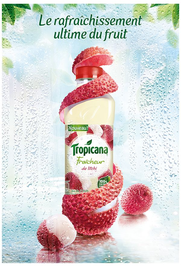 Tropicana Fraicheur by frederic fuchs, via Behance