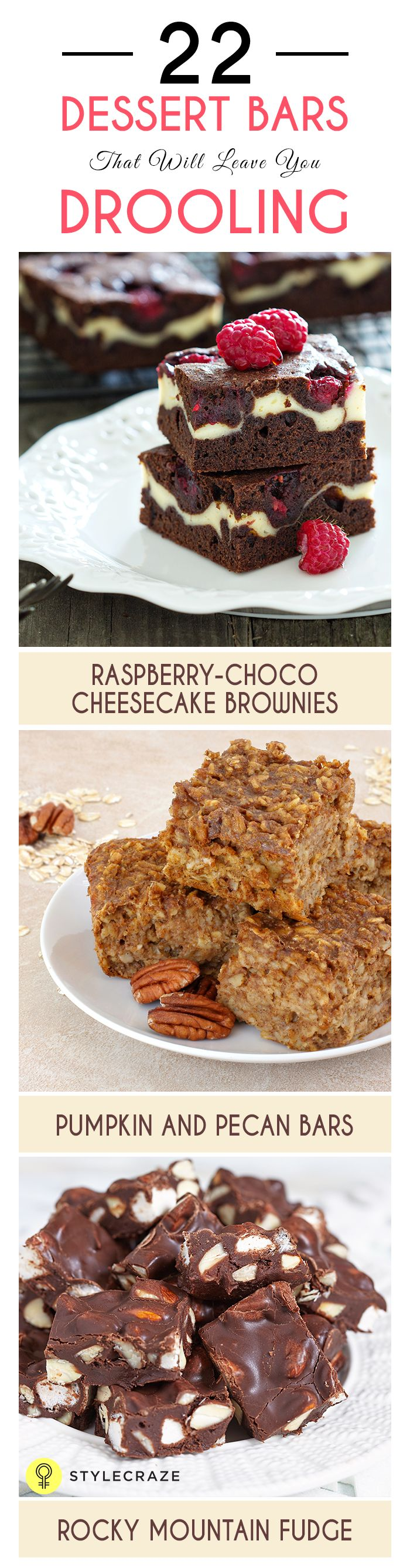 Who aren't a fan of Delicious dessert bars. Starting from Snickers to Raspberry bars we all love having them. Take a look at these Dessert bars and check if you've tried them!