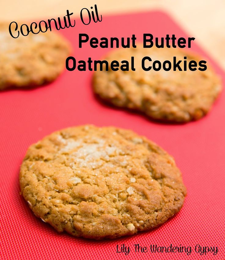 The Best Peanut Butter Oatmeal Cookies Recipe (With Coconut Oil) - I created this recipe to learn more about cooking with Coconut Oil - It's amazing! #recipe #peanutbutter #cookies #dessert #coconut_oil #snack