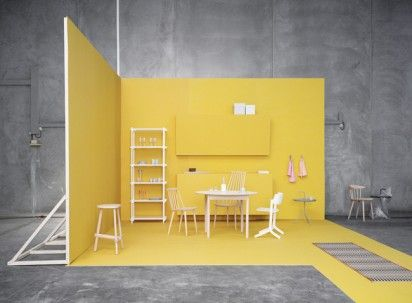 Love the bright yellow gainst the concrete gray     HAY danish furniture  company via. Best 25  Furniture companies ideas on Pinterest   Kitchen