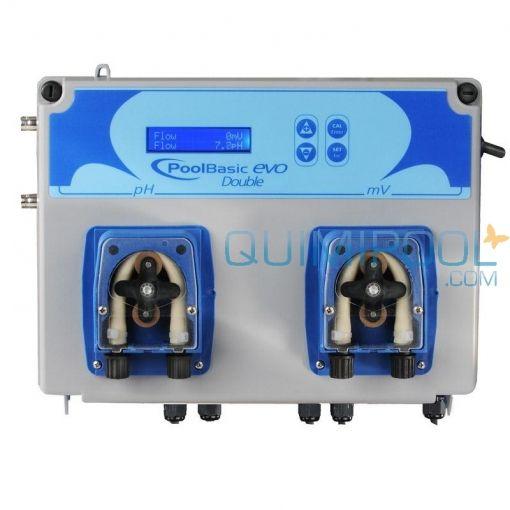 Control automático pH y Cloro (Redox) 5 l/h. Sistema de control y regulación de pH y Cloro (Redox). Display digital. Caudal bomba peristáltica: 5 l/h.