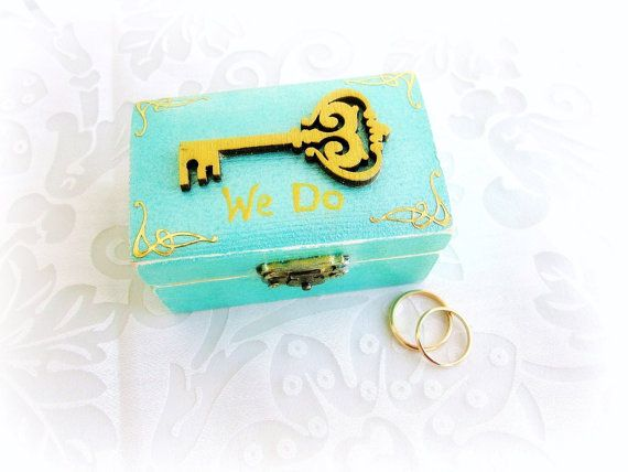 Ring Bearer Wedding Ring Box Key Ring Box We Do Ring by GattyGatty