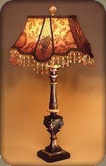 Hand Beaded Victorian Lamp Shades And Antique Lamps, Chandeliers And Sconces