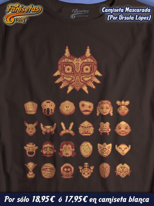 """""""Mascarada"""" Todas las máscaras de #TheLegendOfZelda en una sola #camiseta! #Camisetas #Fanisetas #Zelda #Nintendo #Link #MajorasMask #MáscaraDeMajora #Videojuegos http://www.fanisetas.com/camiseta-mascarada-p-6088.html"""