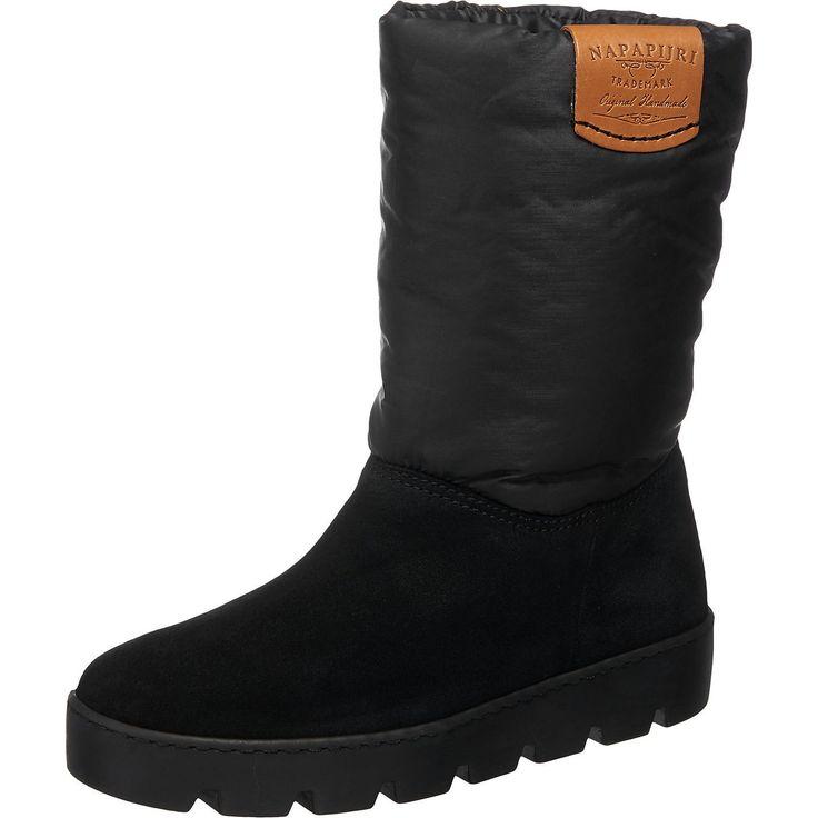 Ideal für kalte und nasse Tage: Die NAPAPIJRI Jenny Stiefel. Der Schaft ist besonders weich, anschmiegsam und auch wasserabweisend.  - Verschluss: Schlupf - robuster Fußbereich - griffige Laufsohle - Absatzart: Flach - Absatzhöhe: 4 cm - Schafthöhe: 23 cm (gemessen an Gr. 37) - Schaftweite: 30 cm (gemessen an Gr. 37)  Obermaterial: Leder, Textil (Materialmix) Futter: Sonstiges Material (Synthet...
