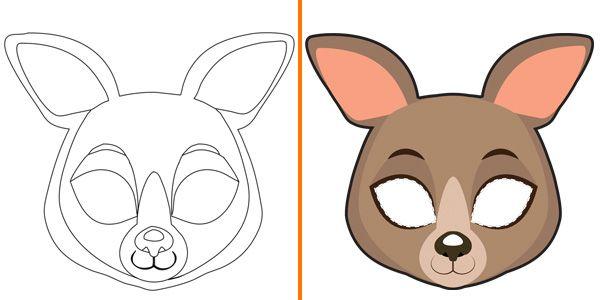 Maschere Di Animali Da Colorare E Costruire Per Bambini Animali