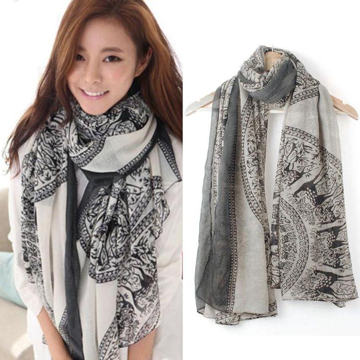 Hot Nieuwe Vintage Vrouwen Lady Zachte Lange Hals Grote Sjaal Wrap Shawl Pashmina Stola bandana Warme Sjaals Goedkope foulard Z2 Q1(China (Mainland))
