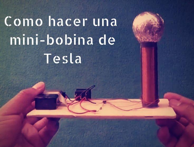 """Cómo hacer una bobina de Tesla casera, capaz de encender una bombilla """"a distancia""""."""