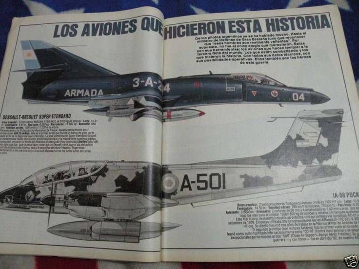 FALKLANDS ISLANDS WAR ARGIES AIRCRAFTS SPECS 1982 MAGAZINE