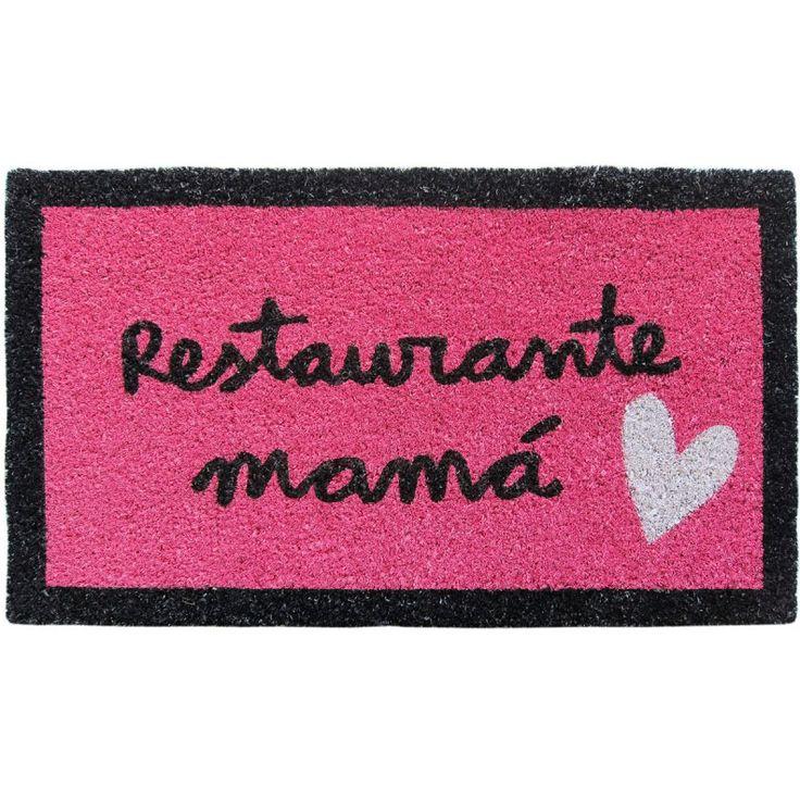 Felpudo Restaurante Mamá. Un felpudo original y muy colorido perfecto para regalar. Con diseño de Anna Llenas, y lo tenemos en Decocuit, regalos y decoración en Burgos y también en www.decocuit.com.