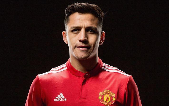 Download wallpapers Alexis Sanchez, football, Manchester United, soccer, Alexis, MU, Premier League, footballers