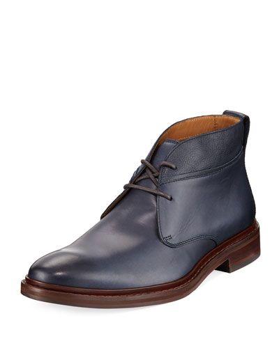 Williams Welt Leather Chukka Boot, Blue