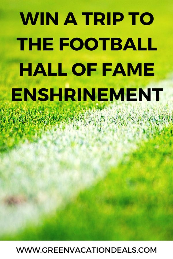 Win a trip to Cleveland Ohio for the Hall Of Fame Game and Enshrinement Ceremony! Great travel sweepstakes for pro football fans! #cleveland #clevelandohio #HallOfFame #sweepstakes