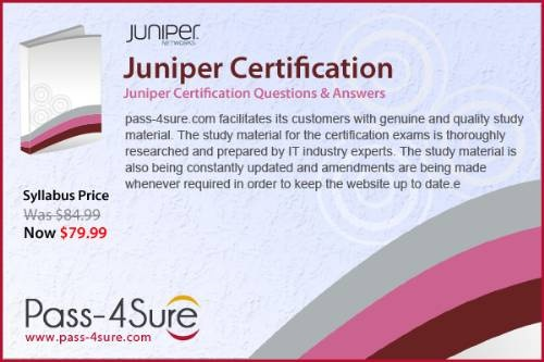 With pass4sure guide of Juniper Certifications you can cover up the syllabus well in time and get maximum chance of your targeted score.http://www.pass-4sure.com/juniper.html