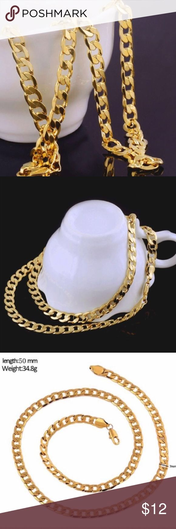 New 18k Gold Filled Chain For Men Or Women Brand New Chain For 20