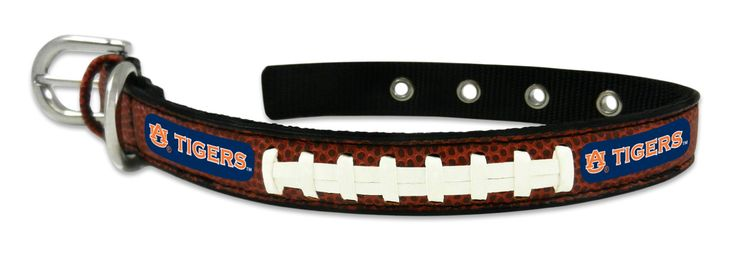 Auburn Tigers Classic Leather Small Football Collar