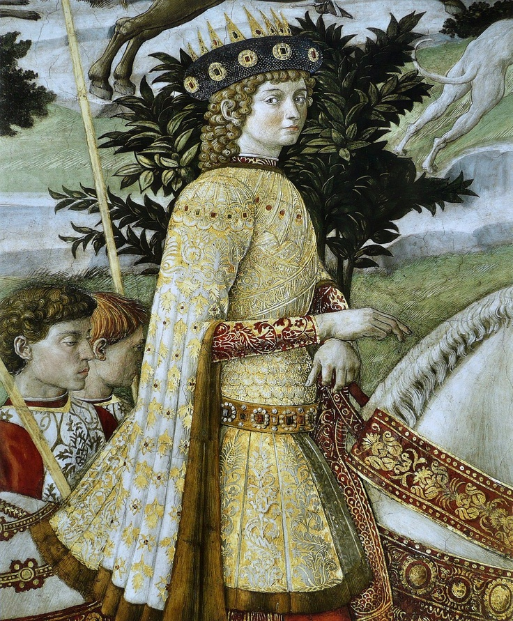 ❤ - BENOZZO GOZZOLI (1421 - 1497) - Procession of the Magus Balthazar (detail). 1459-1461. Fresco. East wall of the chapel, Palazzo Medici-Riccardi, Florence.
