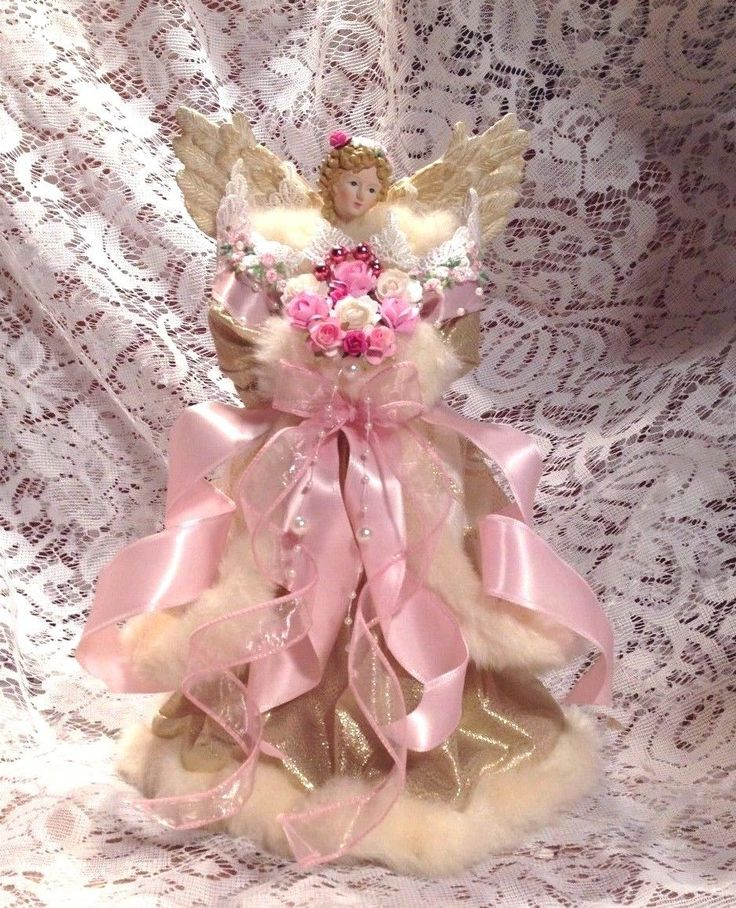 Shabby Victorian Chic Angel Tree Topper