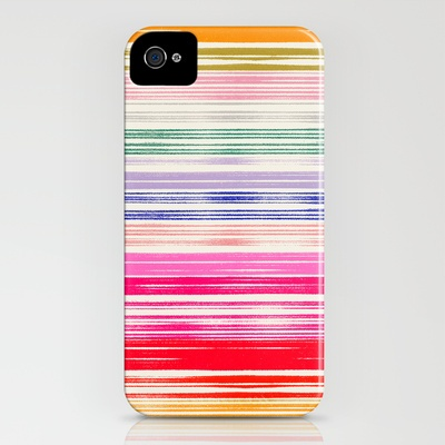Home : Ten Super Rad iPhone Cases  Waves_Multicolor iPhone Case by Garima Dhawan | Society6