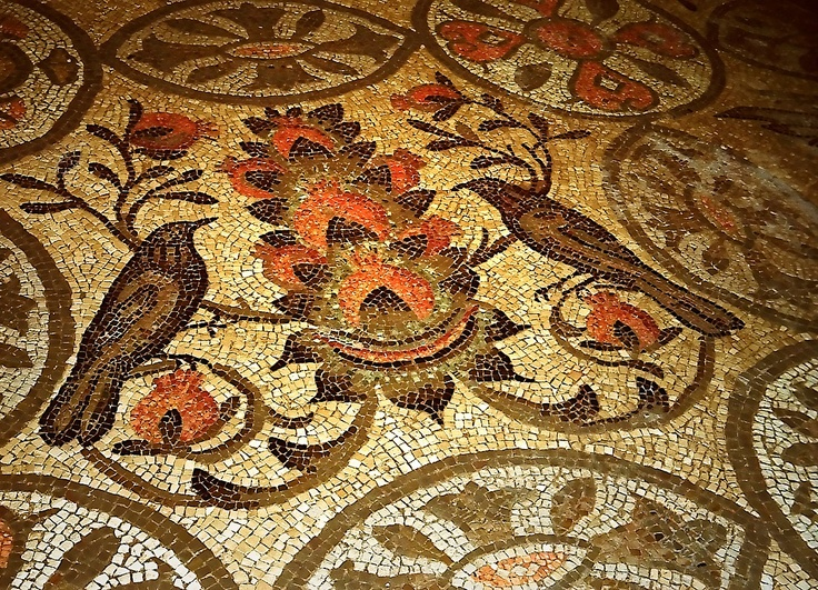 Aquileia, Italy, mosaic in hellenistic style (detail)