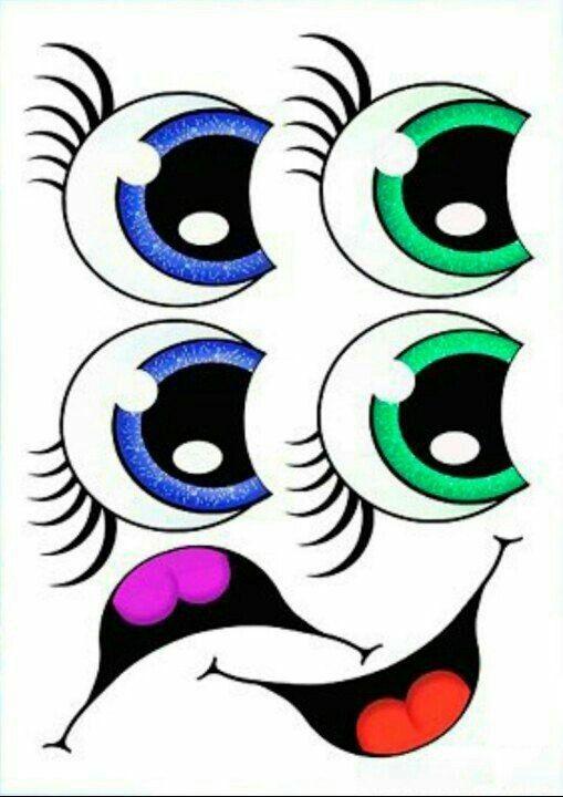 неуверенность глаза игрушечные рисунок другой белой