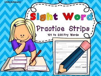 Printables Write In Word From 101 To 200 1000 ideas about 4th grade sight words on pinterest writing strips fry 101 to 200