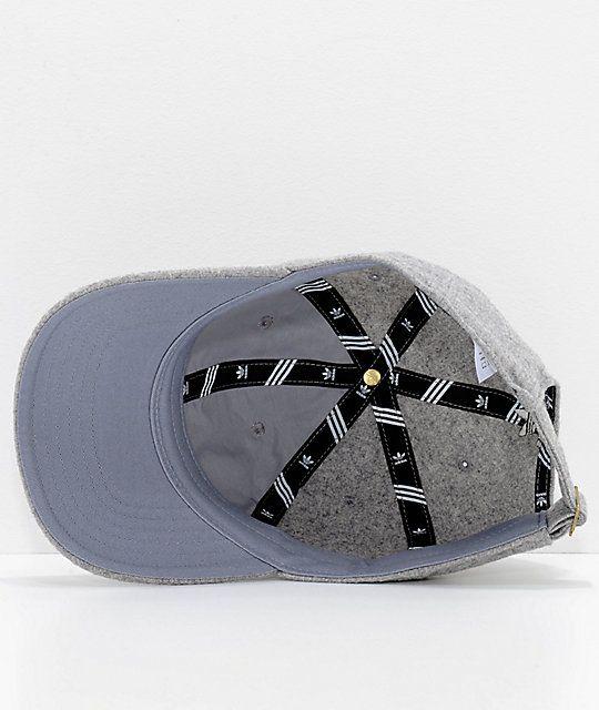 adidas Relaxed Grey Wool Dad Hat  37dbb56b4d01