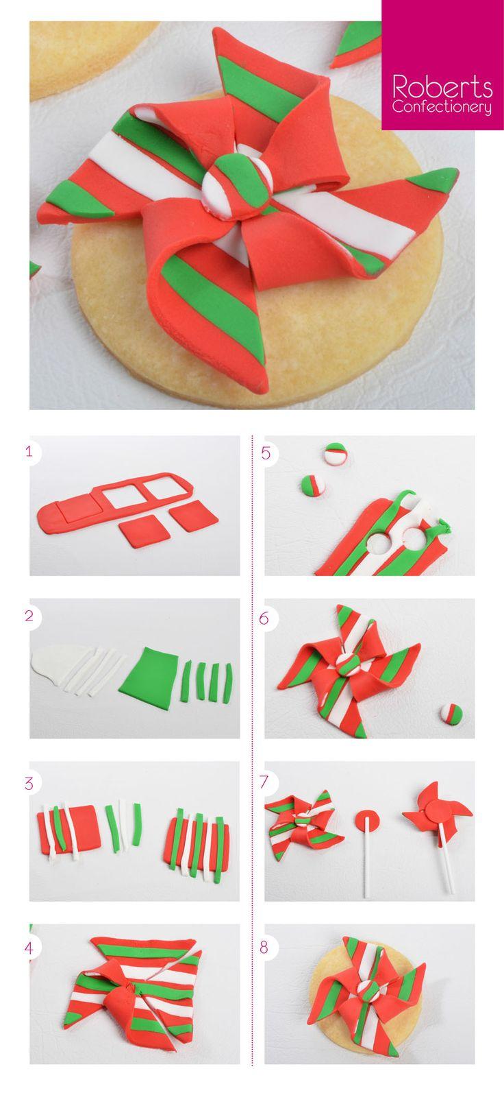 Christmas Pinwheels made with Satin Ice Fondant @satinfinefoods #christmas #cookie