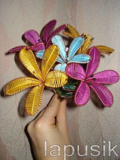 kwiaty z drutu i nitki 01