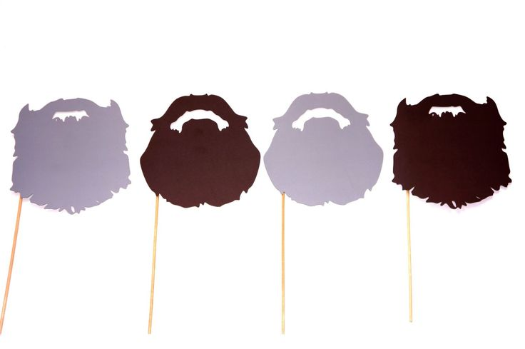 Amazon.com: Duck Dynasty Beards - Fully Assembled - Set of 4 Photo Booth Props on a Stick: Health & Personal Care